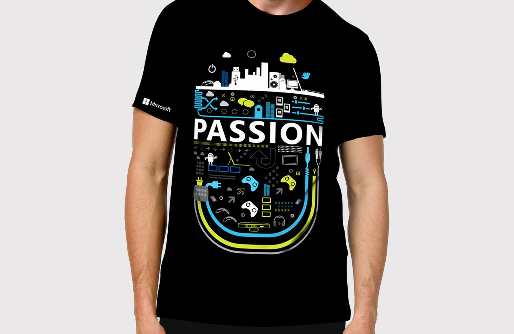microsoft passion tshirt