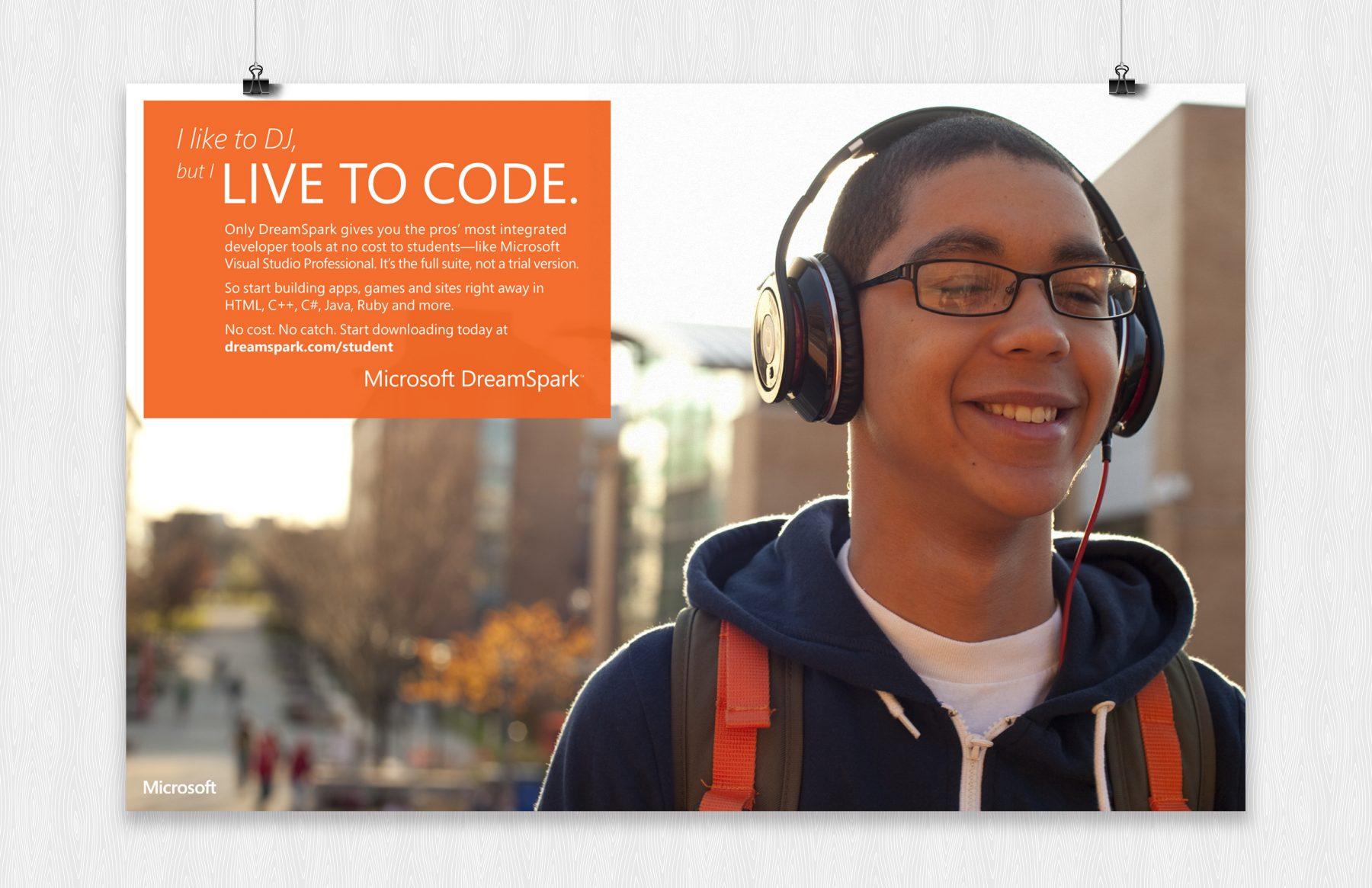 microsoft live to code poster dj
