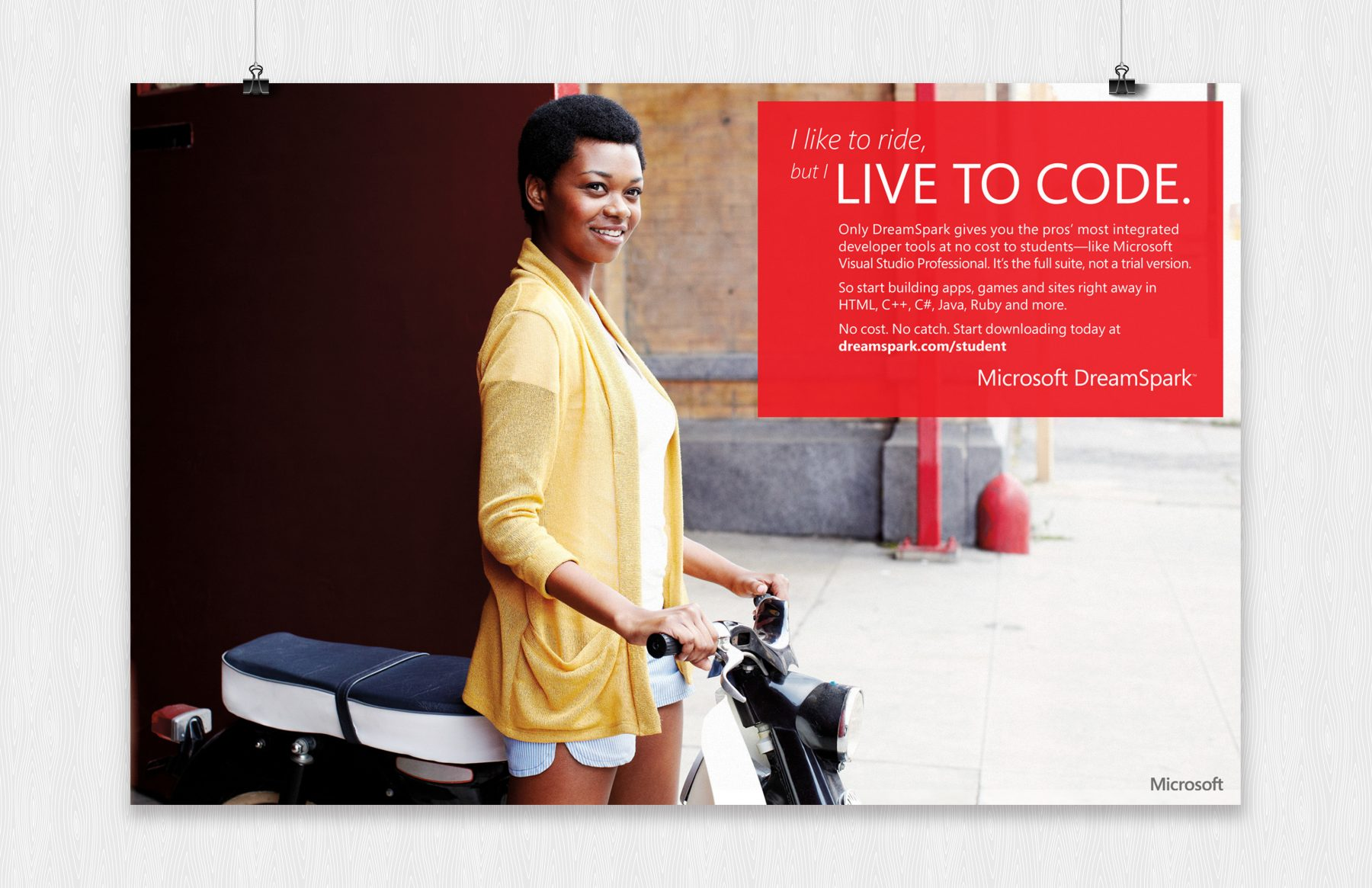 microsoft live to code poster ride